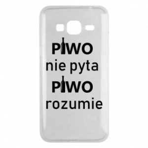 Phone case for Samsung J3 2016 Beer does not ask beer understands - PrintSalon