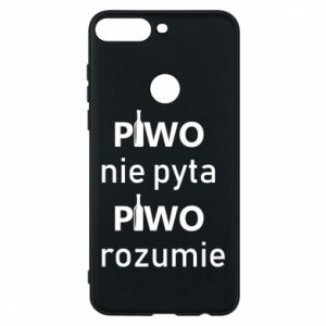 Phone case for Huawei Y7 Prime 2018 Beer does not ask beer understands - PrintSalon