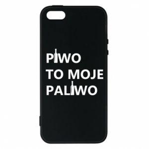 Etui na iPhone 5/5S/SE Piwo to moje paliwo, z butelkami