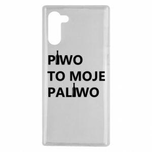 Etui na Samsung Note 10 Piwo to moje paliwo, z butelkami