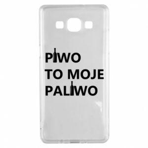 Etui na Samsung A5 2015 Piwo to moje paliwo, z butelkami