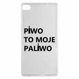 Etui na Huawei P8 Piwo to moje paliwo, z butelkami