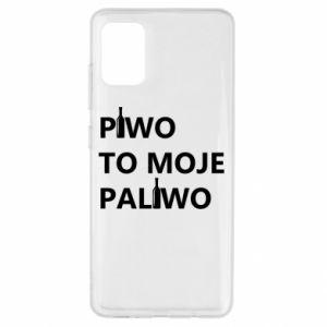 Etui na Samsung A51 Piwo to moje paliwo, z butelkami