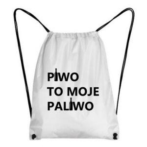 Plecak-worek Piwo to moje paliwo, z butelkami