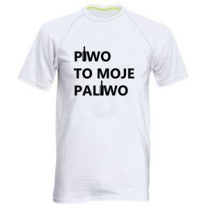 Koszulka sportowa męska Piwo to moje paliwo, z butelkami