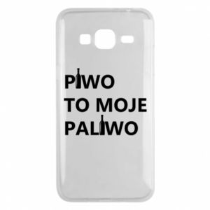 Phone case for Samsung J3 2016 Beer is my fuel, with bottles