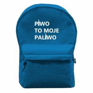 Plecak z przednią kieszenią Piwo to moje paliwo, z butelkami