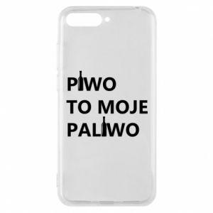 Etui na Huawei Y6 2018 Piwo to moje paliwo, z butelkami