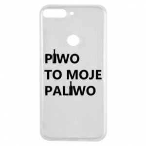 Etui na Huawei Y7 Prime 2018 Piwo to moje paliwo, z butelkami