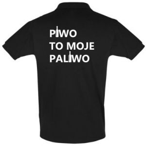 Koszulka Polo Piwo to moje paliwo, z butelkami