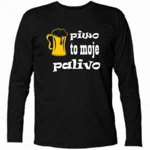 Long Sleeve T-shirt Beer is my fuel - PrintSalon