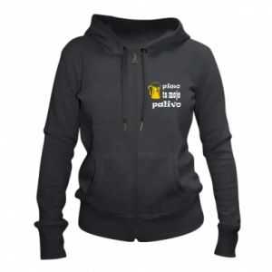 Women's zip up hoodies Beer is my fuel - PrintSalon