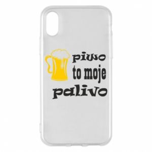 Phone case for iPhone X/Xs Beer is my fuel - PrintSalon