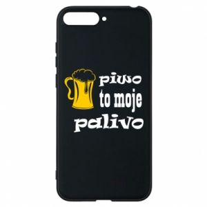 Phone case for Huawei Y6 2018 Beer is my fuel - PrintSalon