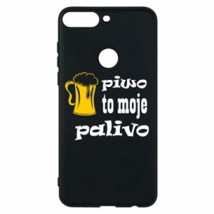 Phone case for Huawei Y7 Prime 2018 Beer is my fuel - PrintSalon