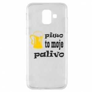 Phone case for Samsung A6 2018 Beer is my fuel - PrintSalon