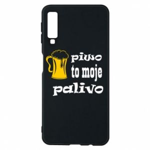 Phone case for Samsung A7 2018 Beer is my fuel - PrintSalon