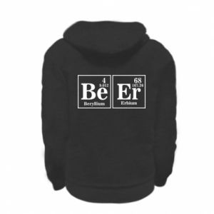 Kid's zipped hoodie % print% Beer