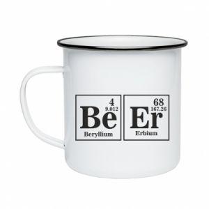 Enameled mug Beer