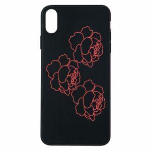 iPhone Xs Max Case Peonies