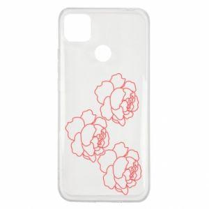 Xiaomi Redmi 9c Case Peonies