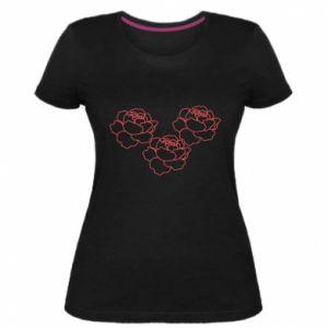 Women's premium t-shirt Peonies