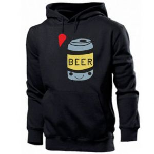 Men's hoodie Pizza Beer