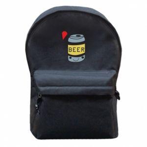 Plecak z przednią kieszenią Pizza Beer