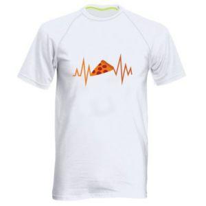 Men's sports t-shirt Pizza cardiogram