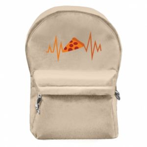Backpack with front pocket Pizza cardiogram