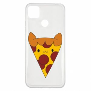 Etui na Xiaomi Redmi 9c Pizza cat