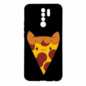 Etui na Xiaomi Redmi 9 Pizza cat