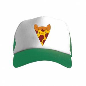 Czapka trucker dziecięca Pizza cat