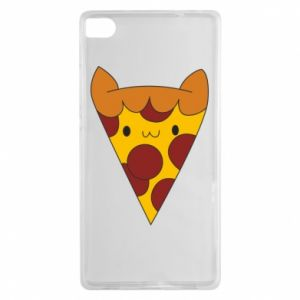 Etui na Huawei P8 Pizza cat