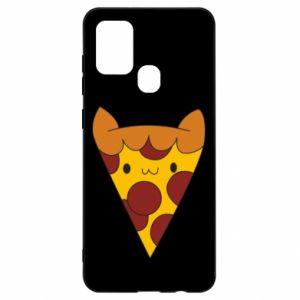Etui na Samsung A21s Pizza cat