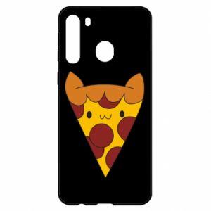 Etui na Samsung A21 Pizza cat