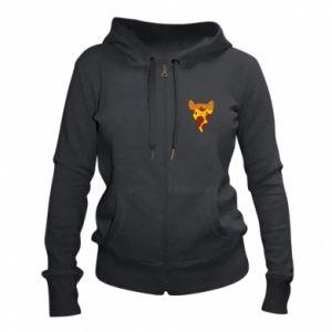 Women's zip up hoodies Pizza cat - PrintSalon