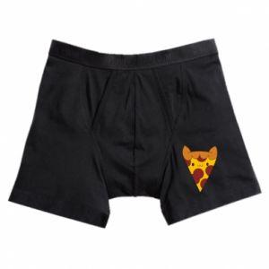 Boxer trunks Pizza cat - PrintSalon
