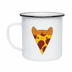 Kubek emaliowany Pizza cat