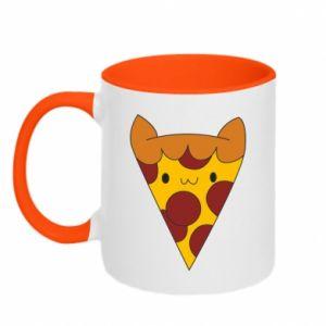 Two-toned mug Pizza cat - PrintSalon