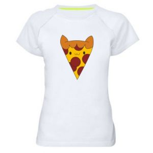 Koszulka sportowa damska Pizza cat