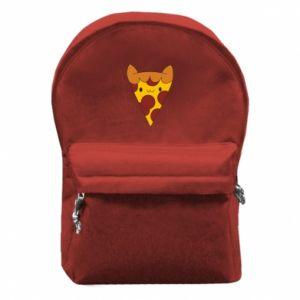 Plecak z przednią kieszenią Pizza cat