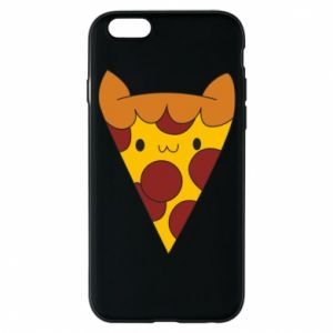 Etui na iPhone 6/6S Pizza cat
