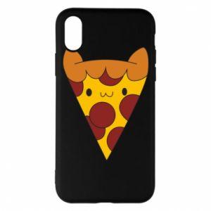 Etui na iPhone X/Xs Pizza cat