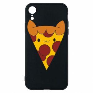 Etui na iPhone XR Pizza cat