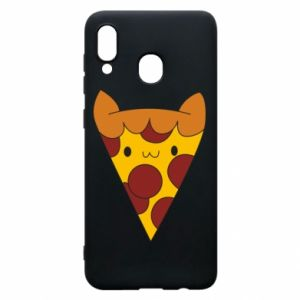 Etui na Samsung A20 Pizza cat