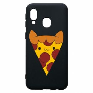 Etui na Samsung A40 Pizza cat