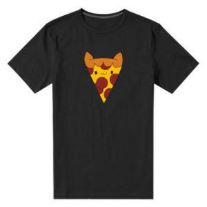 Men's premium t-shirt Pizza cat - PrintSalon