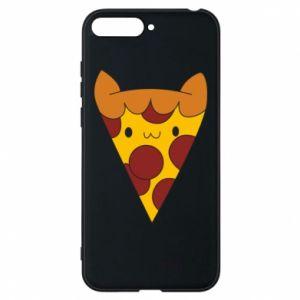 Etui na Huawei Y6 2018 Pizza cat