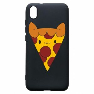 Etui na Xiaomi Redmi 7A Pizza cat